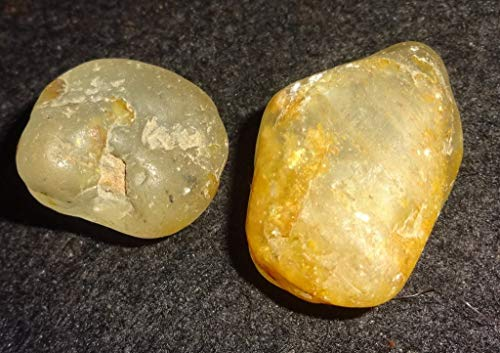 Topaz Golden Silver / Yellow from Nigeria 2pc Set Natural Healing Crystal Gemstone Raw Rough, Natural Markings, Collectible , Display Wrapping Stones