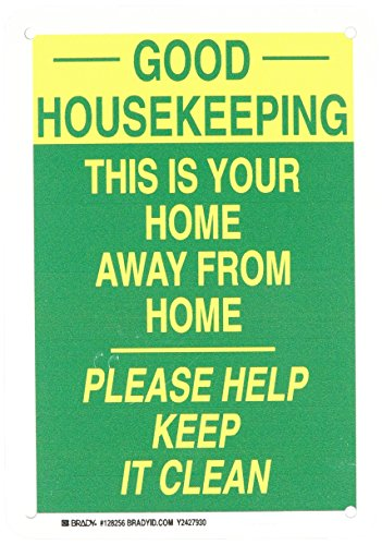 Housekeeping Signs (Brady 128256 Maintenance Sign, Legend