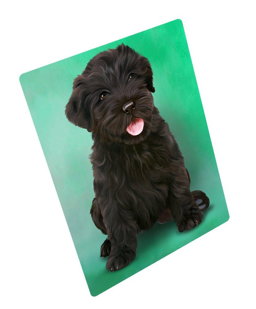 Black Russian Terrier Puppy Dog Rectangle Envelope Seals (20)