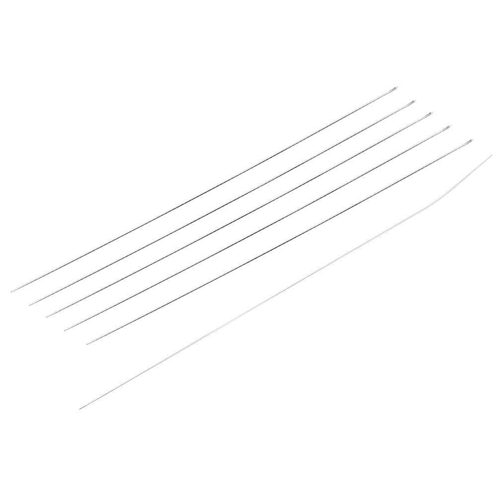 Steel Beading Needles DIY Jewelry Accessories Steel Beads Beading Threading String Needles Hand Tools 1 Open+ 5pcs//Set Closed