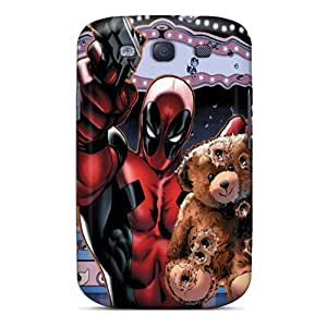 Bumper Hard Phone Cases For Samsung Galaxy S3 With Provide Private Custom Beautiful Deadpool Saving Teddy Bear Series Customcases88