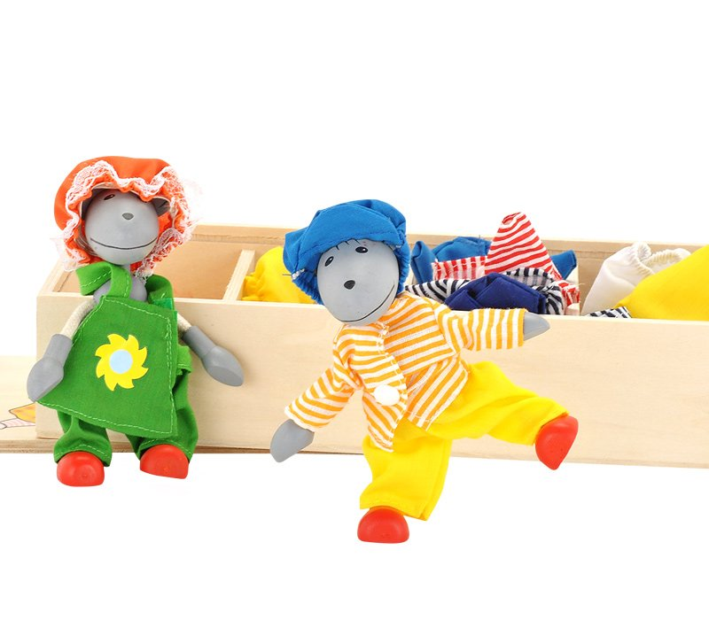 Goki  Dress Up Mice Fun Box Wooden Toy Set Gollnest /& Kiesel SO271 B000EGFKQE