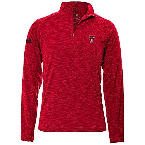 Levelwear LEY9R NCAA Texas Tech Red Raiders Adult Men Mobility Insignia Strong Style Quarter Zip Mid-Layer, Large, Flame Red ()
