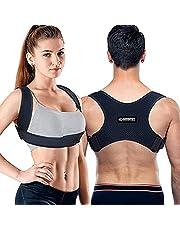 Posture Corrector For Men And Women - Adjustable Upper Back Brace, Upper Spine Support- Neck, Shoulder, Clavicle and Back Pain Relief-Breathable