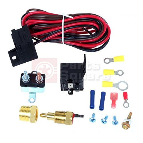 Partssquare 185 to 200 degree electric fan thermostat sensor temperature switch 50 amp relay kit - Four 200 degres thermostat ...