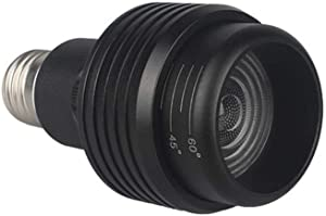 PAR20 LED Bulb, TEXSENS 7W Focus Spotlight Bulbs, CRI 97 COB Downlight Light, Adjustable Beam Angle 15-60 Degree, 2800k Warm White, AC85-256V, Perfect for Commercial, Showcase & Home Lighting (Black)
