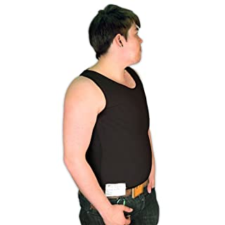 Tranz* Forms Sleeveless FTM Chest Binder, Black (Large)