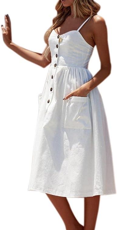 Vestido de Verano, RETUROM El Verano de Las Mujeres abotona el ...