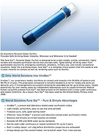 Amazon.com: Una Pure SIP Personal de agua filtro de ...