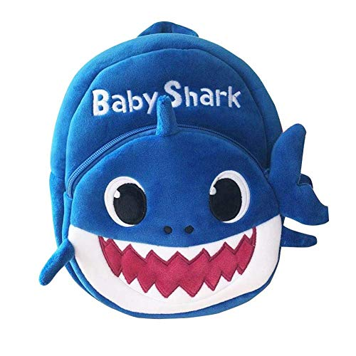 Baby Shark Plush Backpack Cute Cartoon Animal Shark School bag Travel (Blue) (Best Baby Backpacks 2019)