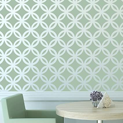 Reusable Template for DIY Decor Walls Rooms and Furniture J BOUTIQUE STENCILS Moroccan Trellis Pattern Allover Wall Stencil Wallpaper Look