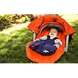 NFL Denver Broncos The Whole Caboodle 5PC set - Baby Car Seat Canopy with matching accessories by Mother's Lounge