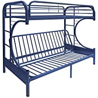 ComfortScape CS-02093BU Twin XL Futon Bunk Bed, Queen