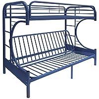 ComfortScape CS-02093BU Twin XL Futon Bunk Bed, Queen