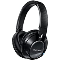 Philips SHB9850NC/27 Over-Ear 3.5mm Wireless Bluetooth Headphones (Black)