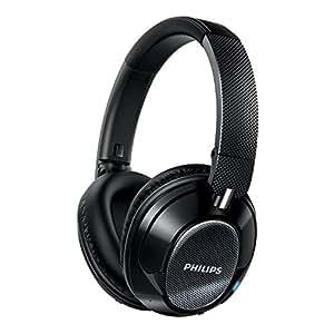 Philips SHB9850NC/27 Wireless Noise Canceling Headphones, Black