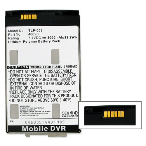 Archos Replacement Battery (Archos 9 Tablet PC Replacement Battery TLP-008 Li-Pol Battery - Rechargable Ultra High Capacity (Li-Pol 7.4V 3000 mAh) - Replacement For Archos 400238 Tablet Battery)
