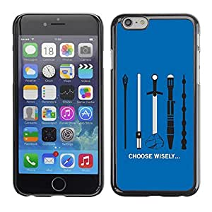 GagaDesign Phone Accessories: Hard Case Cover for Apple iPhone 6 Plus 5.5 Inch - Choose Wisely Your Weapon