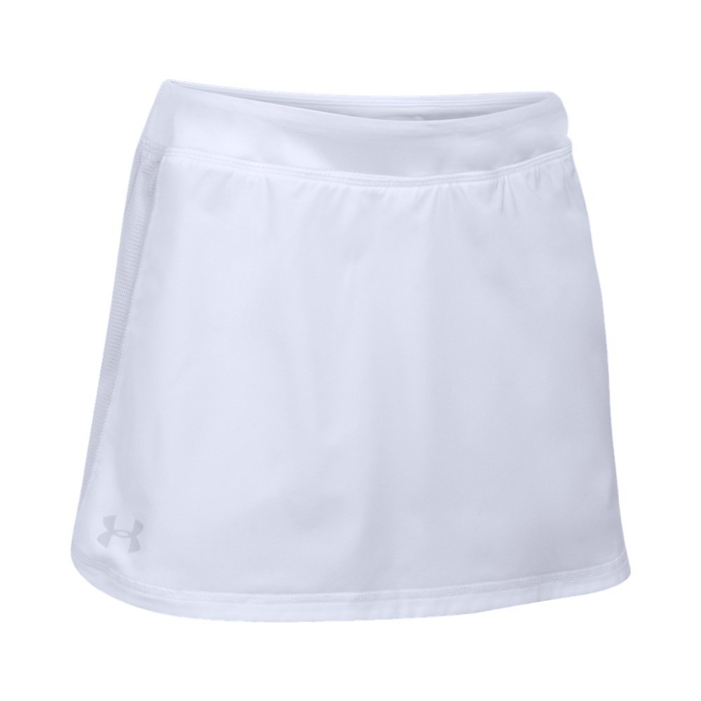 Under Armour Girls' Play Up Skort,White (100)/Glacier Gray, Youth Medium by Under Armour