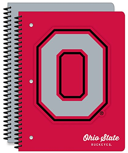 Ohio State University Buckeyes  1-Subject School Notebooks, 2 Pack, 70 Pages Each, 8