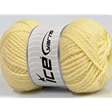 Lot of 4 x 100gr Skeins Ice Yarns YARNS Virgin Wool Bulky Baby Yellow