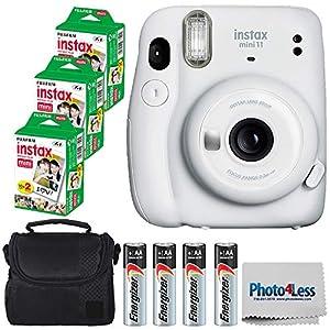 Flashandfocus.com 51yNJWepiEL._SS300_ Fujifilm Instax Mini 11 Instant Camera - Ice White (16654798) + Fujifilm Instax Mini Twin Pack Instant Film (60 Sheets…