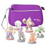 Purple Neoprene Case Cover With Front Storage Pocket for the Nintendo Amiibo Figures (Wii U / 3DS / Nintendo Switch - by DURAGADGET
