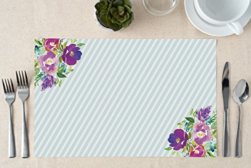 DB Party Studio Paper Placemats 25 Pack Bridal Baby Shower Baptism Christening Surprise Birthday Parties Brunch Lunch Dinner Indoor Outdoor Disposable Easy Cleanup Table Settings 17