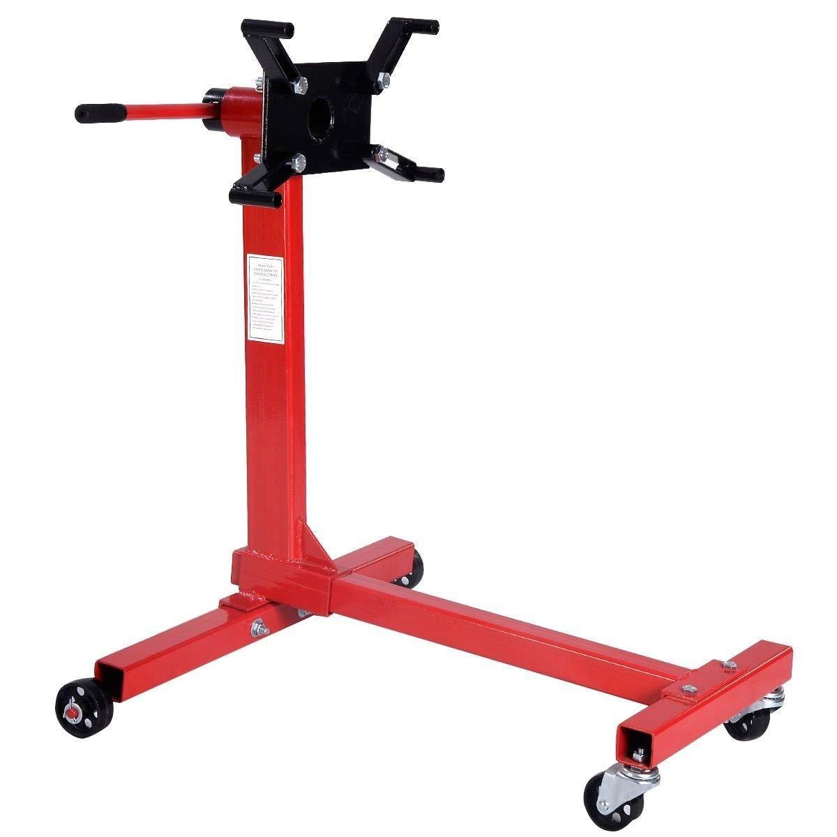 Lift Hoist Automotive 1000 lbs Rotating Shop Engine Stand Heavy Duty w/ 4 Adjustable Arms MD Group