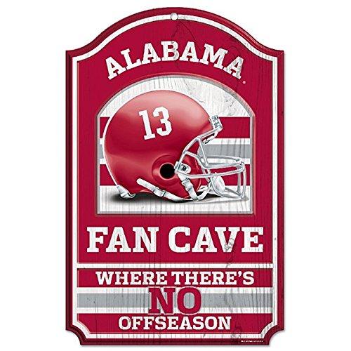 Wincraft Collegiate Fan Shop Authentic NCAA Fan Cave Wooden Sign (Alabama Crimson Tide)