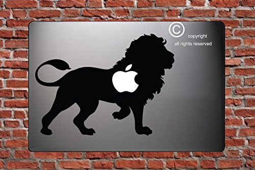LION - BLACK - STICKER - DECAL - SKIN - FOR LAPTOP MACBOOK CAR WINDOW WALL ART DÉCOR TRUCK MOTORCYCLE HELMET NOTE BOOK