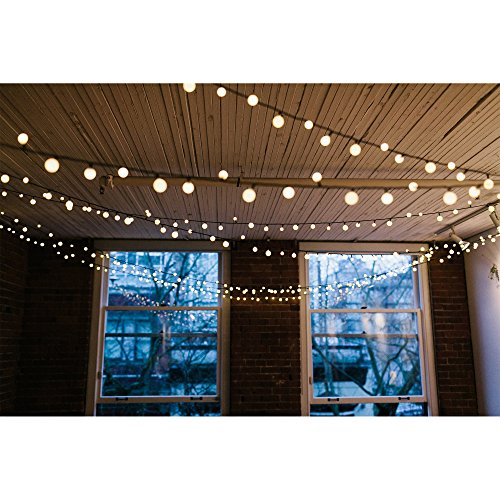 [Remote & Timer] 33Ft Globe String Lights 100LED Fairy Twinkle Lights with Remote 8 Modes Controller & UL Listed Adaptor Plug-for Patio/Party/Garden/Wedding Decor, Warm White by Brightown (Image #6)