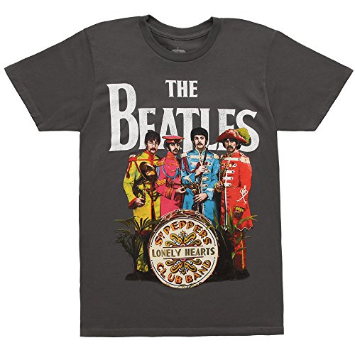 ers Lonely Hearts Club Band Men's T-Shirt - Grey (XX-Large) (Beatles Lonely Hearts T-shirt)