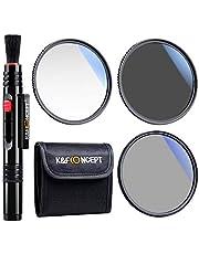 K&F Concept 67mm UV CPL ND4 Lens Filter Kit, UV Protector Circular Polarising Neutral Density Filter Accessory for DSLR Cameras Cleaning Pen Filter Bag Pouch