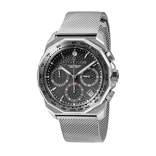 Perry Ellis Mens Watch Unisex Decagon GT 44mm Chronograph Analog Quartz Watch with Stainless Steel Band Waterproof Gift Watch Anniversary Gifts for Men Fashion Luxury Casual Business Watch 09001-04 (Steel Tiger Chronograph Stainless)