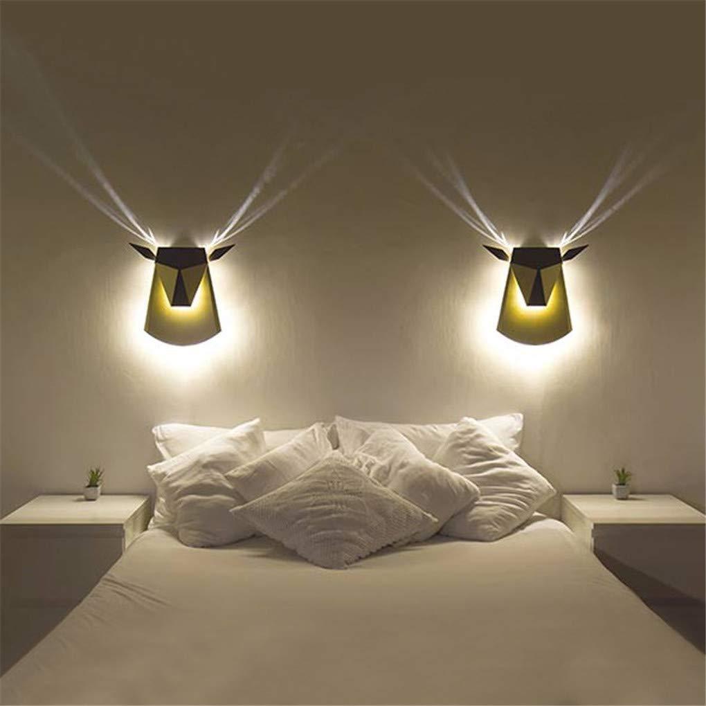 KMY Wandleuchte Moderne Geweih Wandleuchte Wash Lampe Eisen Farbe Schatten LED Spot Beleuchtung Für Schlafzimmer Nacht Wohnzimmer Hotel Corridor,Gold