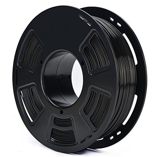 3D PLA 1.75MM BLACK Plastic 3D Printer Printing Filament, Dimensional Accuracy +/- 0.04 mm, 1KG 2.2LBS
