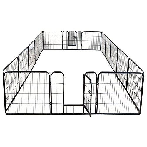 petpremium dog pen metal fence gate portable outdoor rv