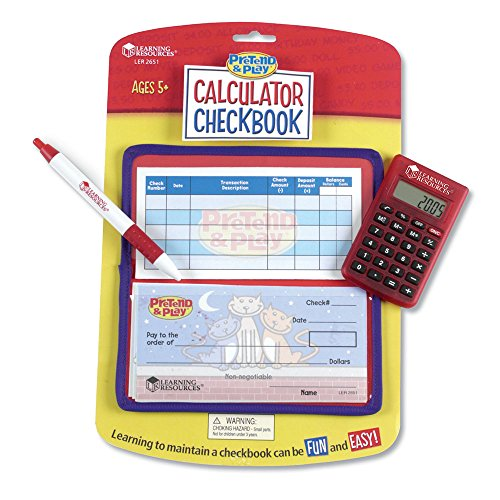 Pretend & Play Checkbook with Calculator and Checks