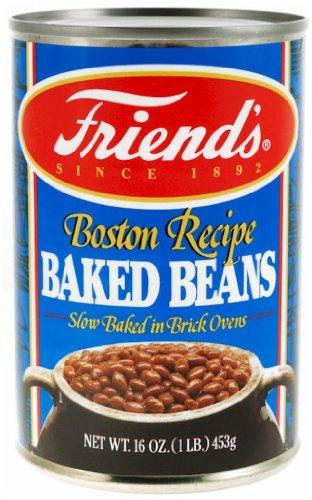 Friends Baked Beans, Boston Recipe, 16 Ounce (Pack of 24) (Best Boston Baked Beans Recipe)
