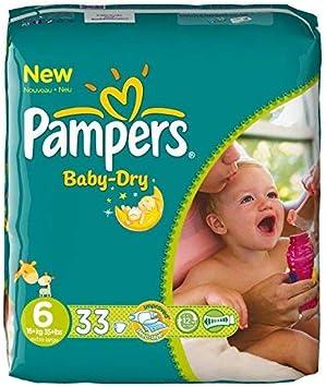 Pampers Baby-Dry T6 62/Couches Canaux d/'Air pour Peau Bien au Sec Qui Respire Toute la Nuit 13-18/kg/ Lot de 3