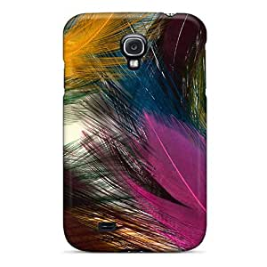 Hot BZUkKfr3158ofqhe Case Cover Protector For Galaxy S4- Colorful Feathers