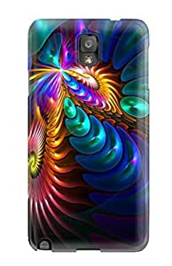 Fashion Tpu Case For Galaxy Note 3- Glowing Fractal Swirls Defender Case Cover