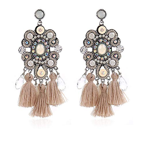 Welcometoo Nice Gift Earring Big Daily Fashion Long Fringed Ethnic Colorful Earrings Winter Jewelry for Halloween Christmas