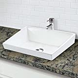 DECOLAV 1489-CWH Brier Classically Redefined Rectangular Semi-Recessed Lavatory Sink, White