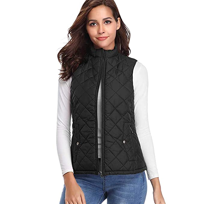 48f3696304cc5 diandianshop Women Vest Jacket Solid Sleeveless Winter Thick Warm Vest Coat  Jacket Women Jackets for Winters