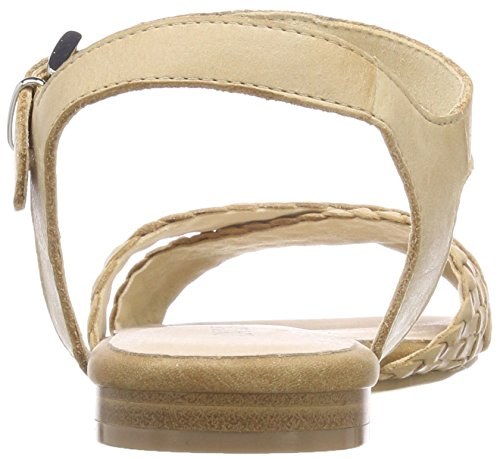 Caprice 28100, Sandalias de Talón Abierto Para Mujer Marrón (Camel Waxy Nap 352)