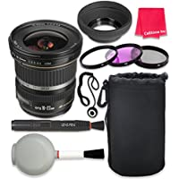 Canon EF-S 10-22mm f/3.5-4.5 USM Lens For Canon T3 T5 T6 T3i T5i T6i T6s 70D 60D 80D 700D 750D 600D 7D Mark II DSLR Cameras + Complete Accessory Kit - International Version (No Warranty)