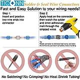 TICONN 150 PCS Solder Seal Wire Connectors, Heat