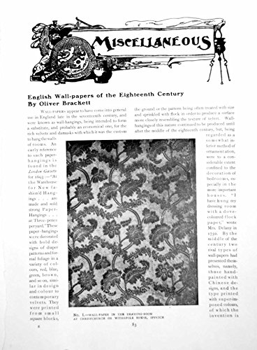 18th Century Wallpaper - old-print Print English Wall-Papers The Eighteenth Century 3 Pages 1918 083Q152